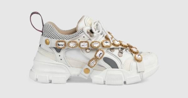 a6fb1c6ca64 Gucci Flashtrek sneaker with removable crystals in 2019