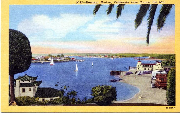 Today's Postcard from Warm Sunny Places is from Newport Harbor, California!