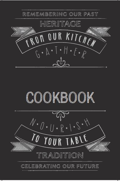 New cookbook cover template @heritagecookbook.com
