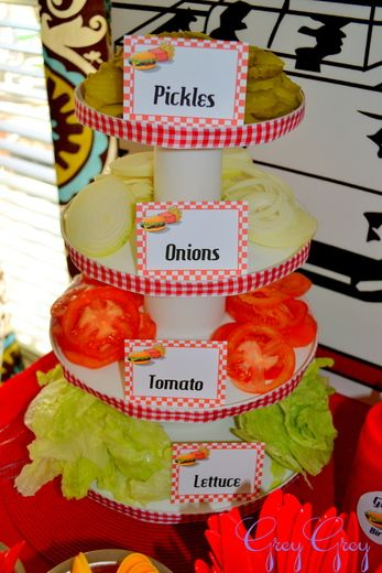 "Photo 2 of 32: Hamburgers / Birthday ""Greyson's Hamburger Themed 3rd Birthday"" 