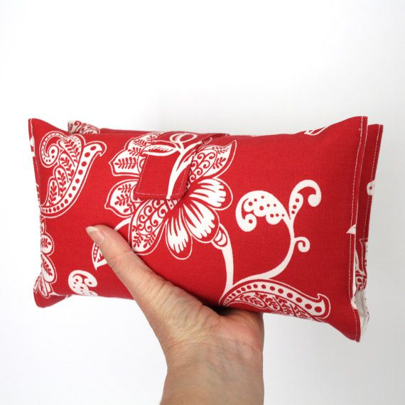 Nappy Wallet  Red Floral by VickiElle01 on Etsy