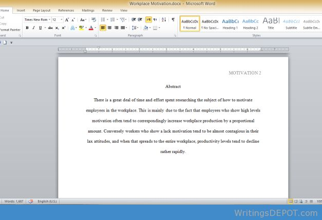 reference page format essay