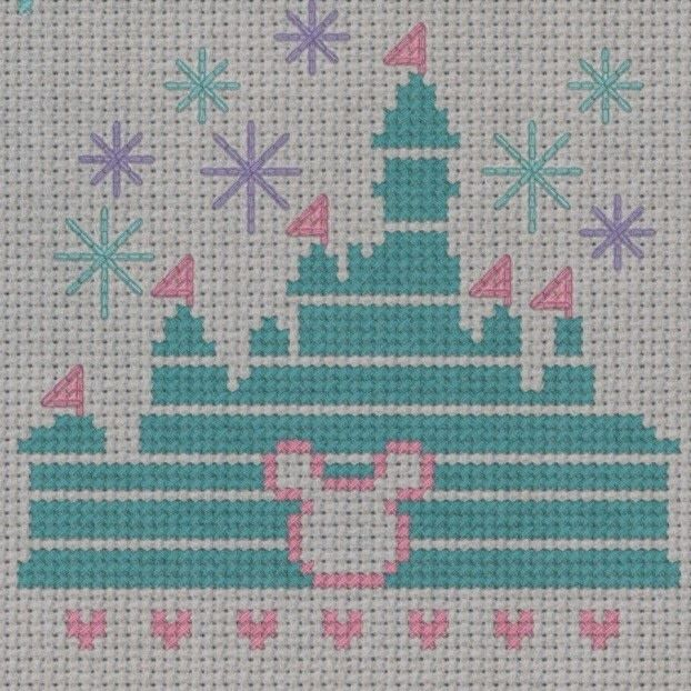 """If you can dream it, you can do it"" Magical Disney Castle free cross stitch pattern, for personal use only"