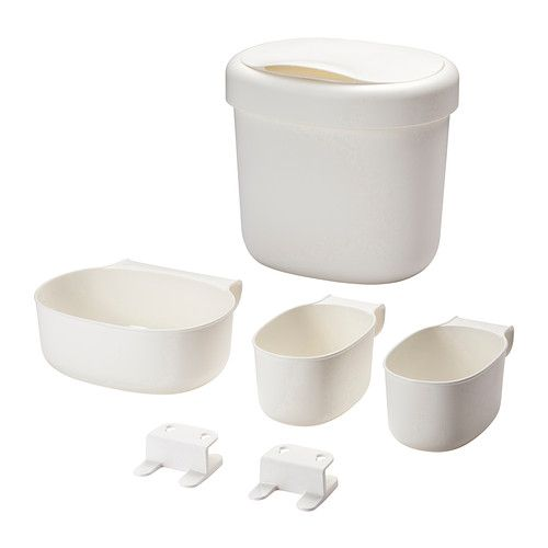 IKEA - ÖNSKLIG, Racks for changing table, set of 4, , You can easily keep your diaper changing supplies organized and easy to find with these storage baskets in different shapes and sizes.