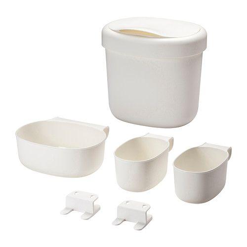ÖNSKLIG Förvaringskorgar f skötbord 4 delar, vit vit -
