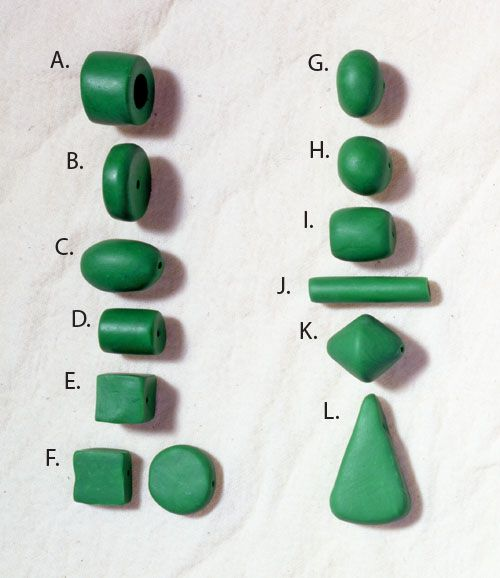 Polymer clay beginner lesson on basic shapes for beads ~ excellent information for miniature shapes in general