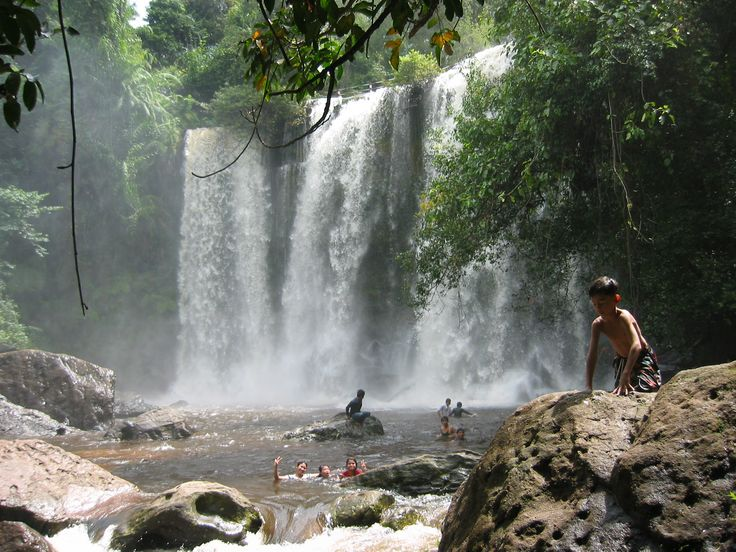 Phnom Kulen National Park (two hour drive, waterfall, swimming) - Siem Reap Province, Cambodia