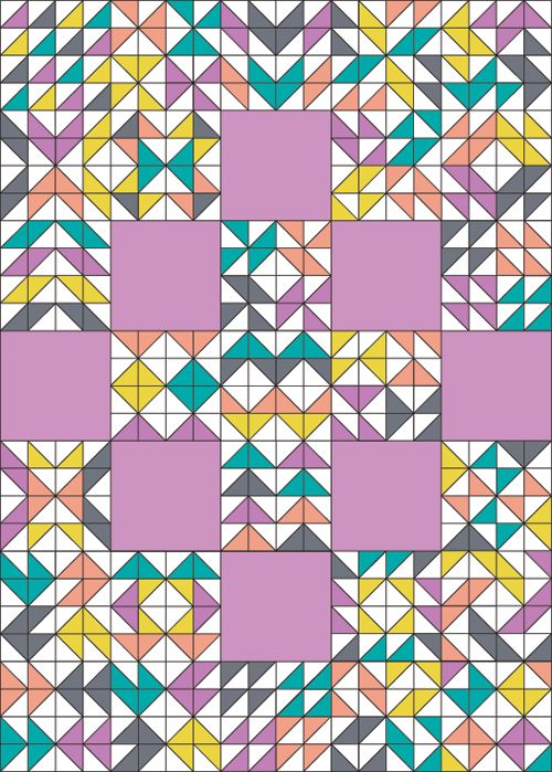 289 best quilting: half square triangles images on Pinterest ... : block quilts designs - Adamdwight.com