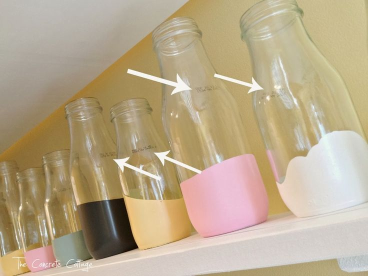The Concrete Cottage: Paint Dipped Starbucks Frappuccino Bottles
