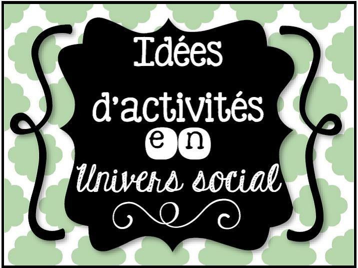 Idées d'activités en univers social
