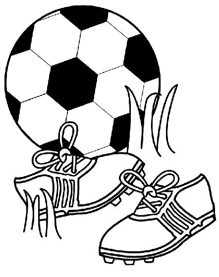 Lace up your cleats and get coloring with this soccer coloring page!