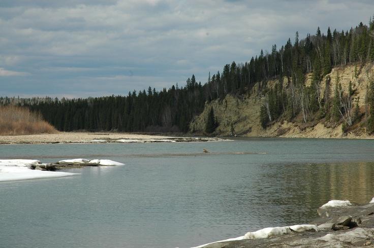 The North Saskatchewan River.
