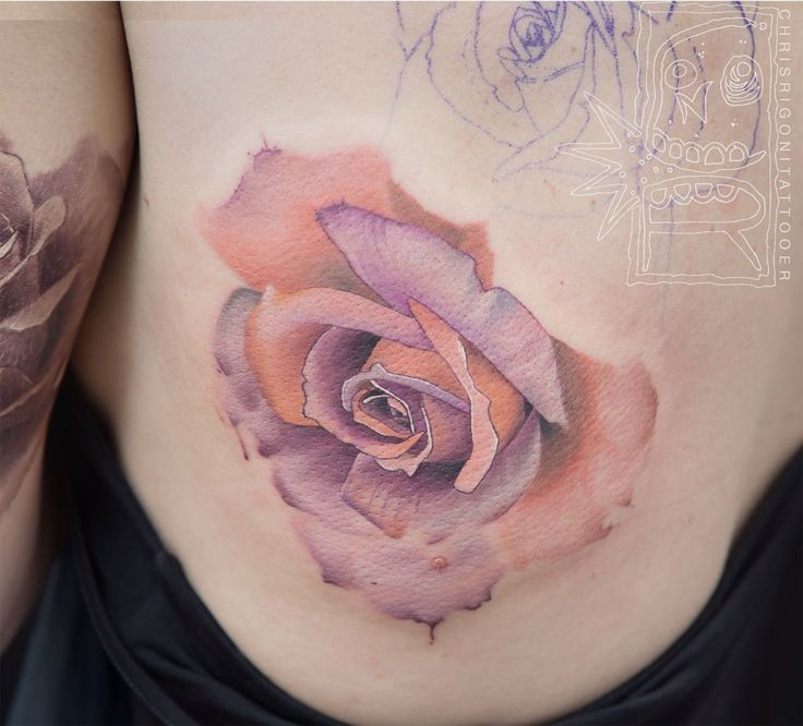 rose, flower, side tattoo, tattoo for woman