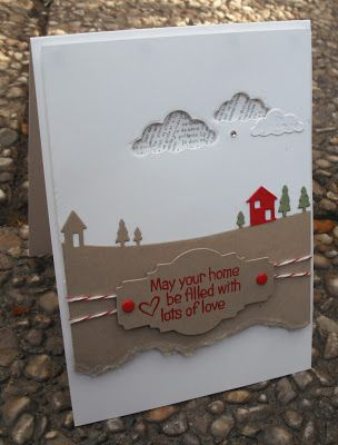 This uses things you already have and I love it  Stempelomis Bastelkeller: may your home...