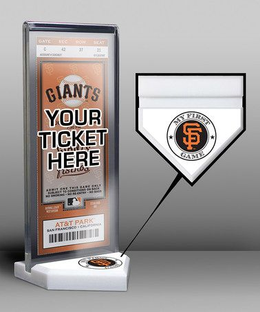 Another great find on #zulily! San Francisco Giants My First Game Ticket Display Stand #zulilyfinds