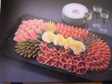 Meats, pickles - nice presentation
