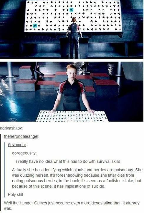 I think she committed suicide because look who she was up against. Cato and Thresh were strong male competitors. She never she could never beat the star crossed lovers either, so she decided to take her own life.