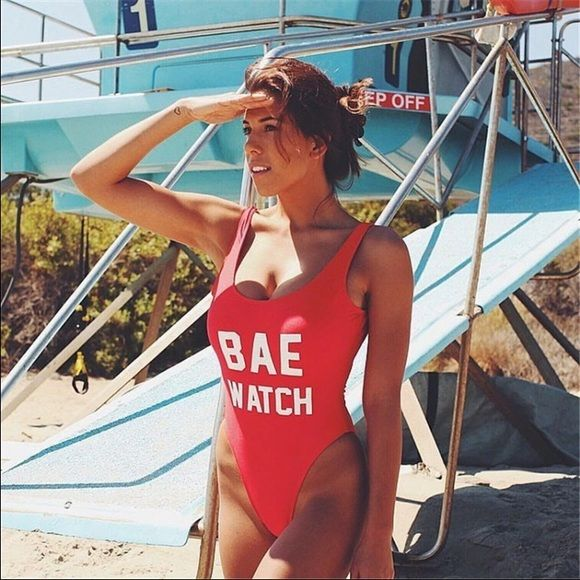 Bae watch one piece swimsuit coming soon! One piece swim suit! Monokini! Perfect for this summer! It's not only just a swimsuit but You can also wear this with ur favorite pair of jeans or shorts to get that chic look! 2 in 1 deal! Coming soon!  Swim One Pieces