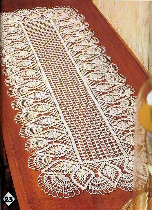 71 best caminos de mesa y tapetes images on pinterest crochet pineapple crochet table runner not sure ill have the patience for small hooks dt1010fo