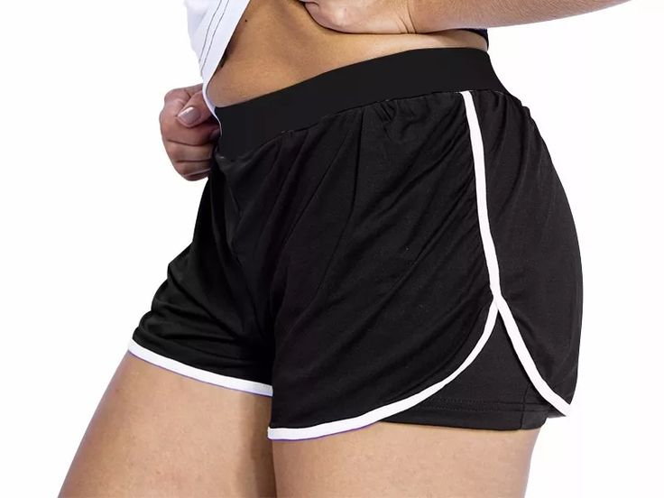 shorts de corrida duplo academia treino maratona feminino