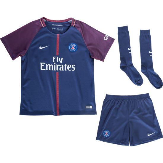 17/18 Nike Paris Saint-Germain Children's Home Kit (Short+Shirt)