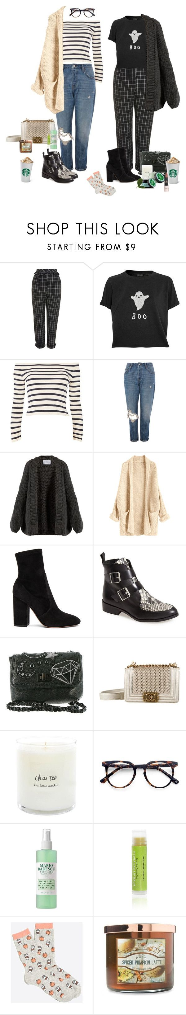 """""""Coffee break"""" by audrey-balt on Polyvore featuring Topshop, I Love Mr. Mittens, Valentino, Steve Madden, Chanel, Fuji, Ace, Mario Badescu Skin Care, Carolina Candle and Anastasia Beverly Hills"""