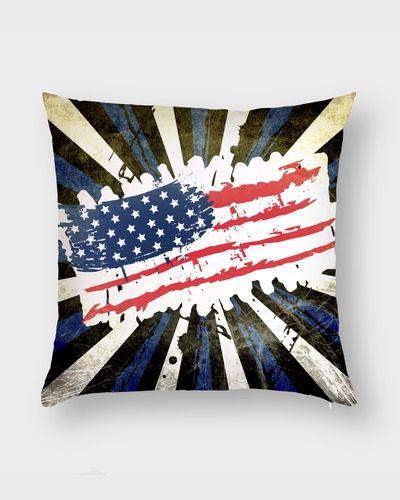 Подушка Гранж флаг США.