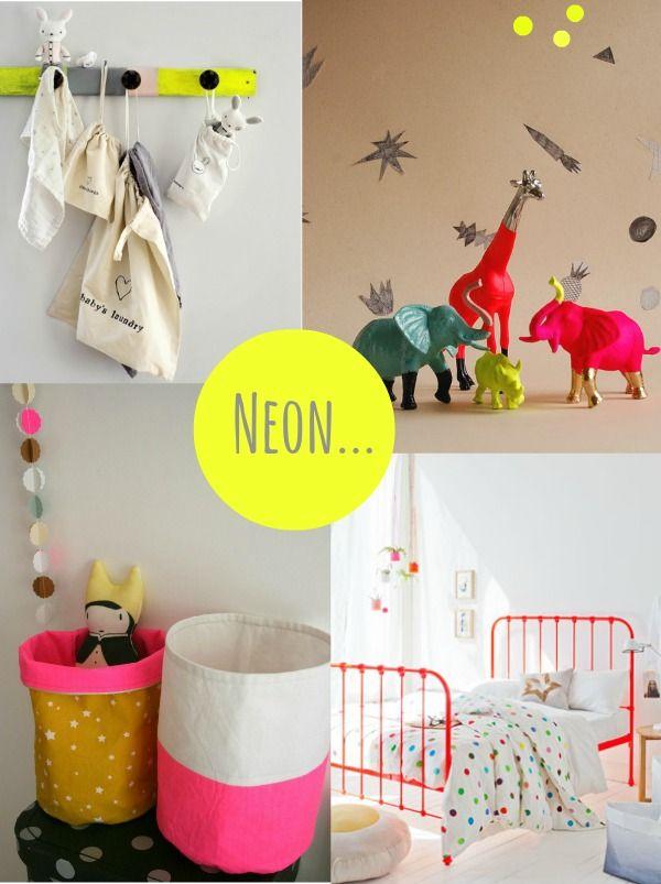 neon trend in kids interiors