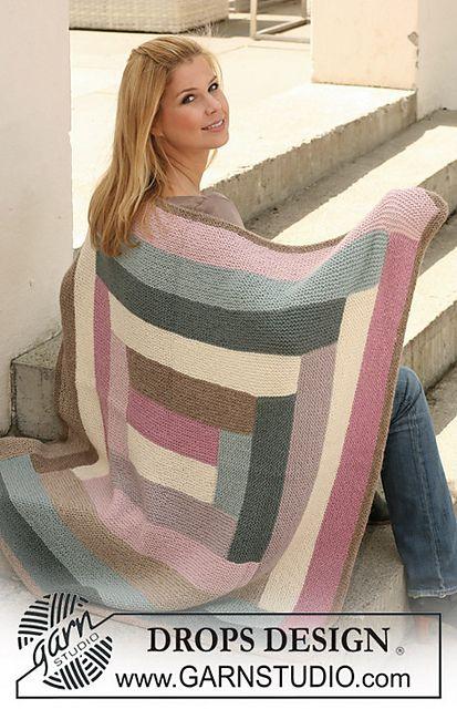 Log Cabin Blanket -- Free Pattern