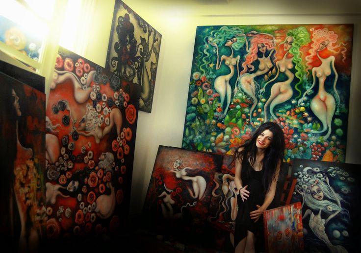 Paintings by Dana Stefania Apostol : It's very good to have my children around me again...