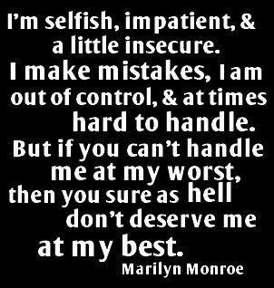 So True!!!! - Marilyn :): Thoughts, Life, Inspiration, Marilyn Monroe Quotes, Wisdom, Truths, Well Said, Favorite Quotes, Living
