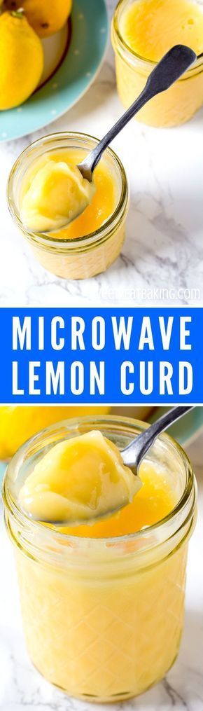 Homemade Microwave Lemon Curd Recipe by Sweet2EatBaking.com | Never buy lemon curd (or any kind of curd) again with this simple, fool proof recipe. Comes together in 10 minutes or less, using store cupboard ingredients