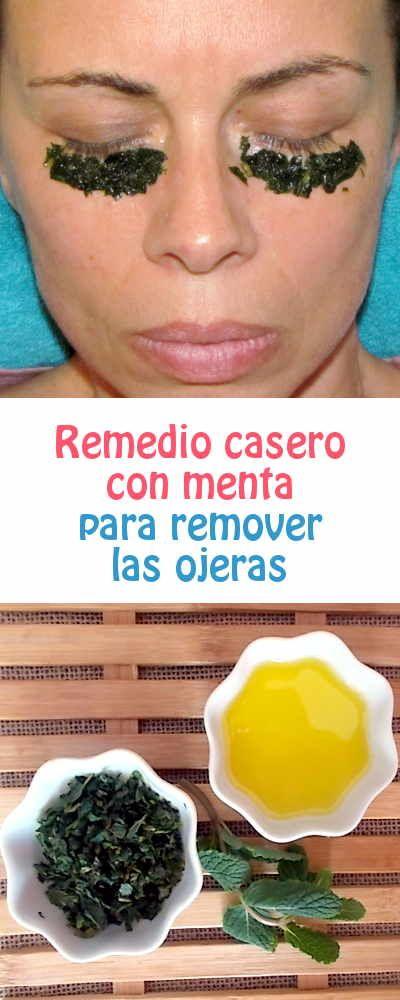 Remedio casero con menta para #remover las #ojeras #remediocasero