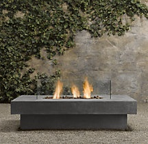 a little fireplace table for outside