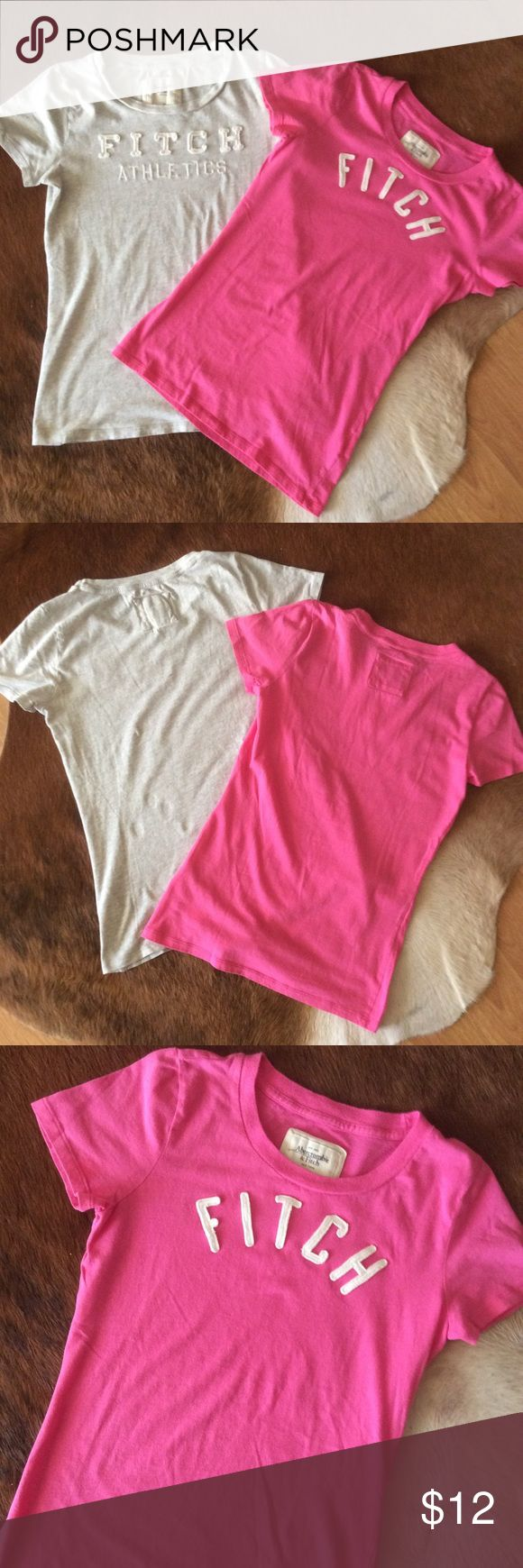 Abercrombie and Fitch two t-shirts  in size:M Very comfortable and super soft thirst by Abercrombie and Fitch in size:M selling as a bundle together! No stains..., elc.  Great condition, a lots of life... Abercrombie & Fitch Tops Tees - Short Sleeve