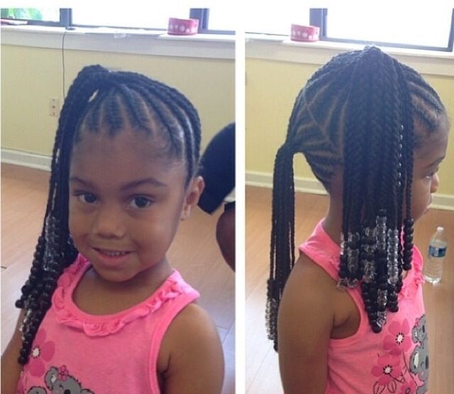 55 best baby girls hair images on pinterest natural hairstyles braids and beads 2 ponytails ccuart Choice Image
