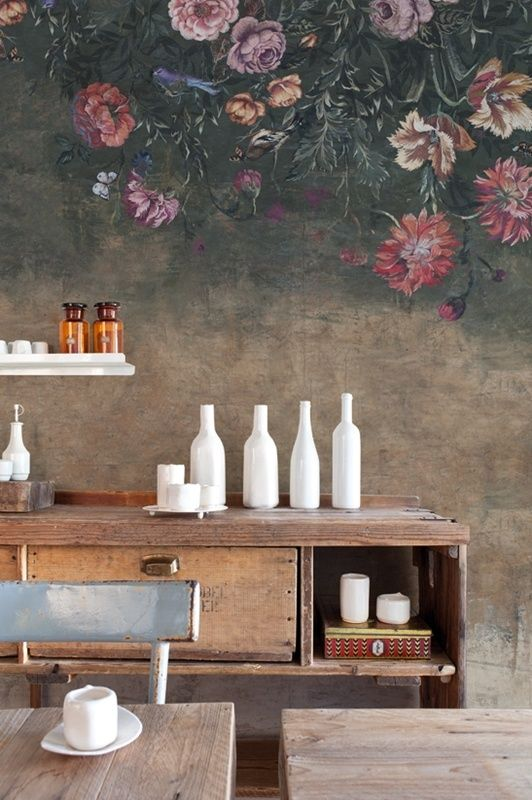 Wall & Deco SOUL | Behang WALL & DECO. If you love rustic style, you should now that is a trend. Use it in your bedroom, bathroom, living room or dining area. See more home design ideas at www.homedesignideas.eu #contemporary #interiors