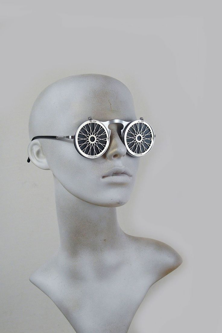 Round metal flip up sunglasses perforated stainless steel lens Bicycle