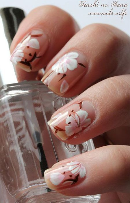 Image via  Gucci inspired nails   Image via  Cherry Blooms Spring Nail Artwork Styles, Tips, Trends & Stickers 2015 | Nail Art   Image via  nails OMG this is genius!! Super easy, and