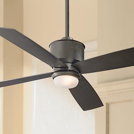 "52"" Minka Aire Strata Smoked Iron Ceiling Fan with Light Kit - #X0137   www.lampsplus.com"