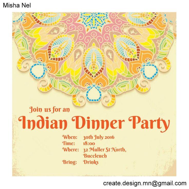 2016 Indian Dinner Party Invitation Orange