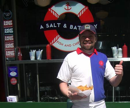 A Salt & Battery Fish and Chips shop