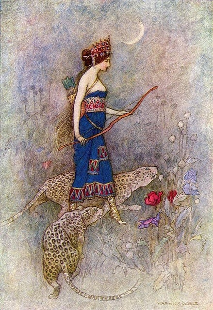 Illustration by Warwick Goble.: