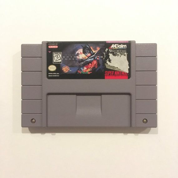 Batman Forever SNES Game Vintage {16 bit} Super Nintendo Entertainment System {Works Perfectly} 1990's {The Real Game Begins} DC Comics