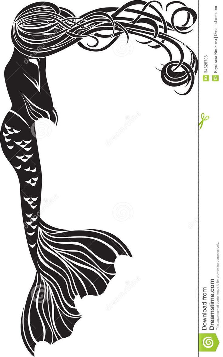 38 best mermaid tattoo images on pinterest for Art nouveau shapes