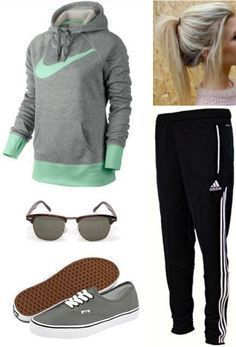 awesome cute sporty teen clothes - Google Search but idk why her ponytail is so droopy...