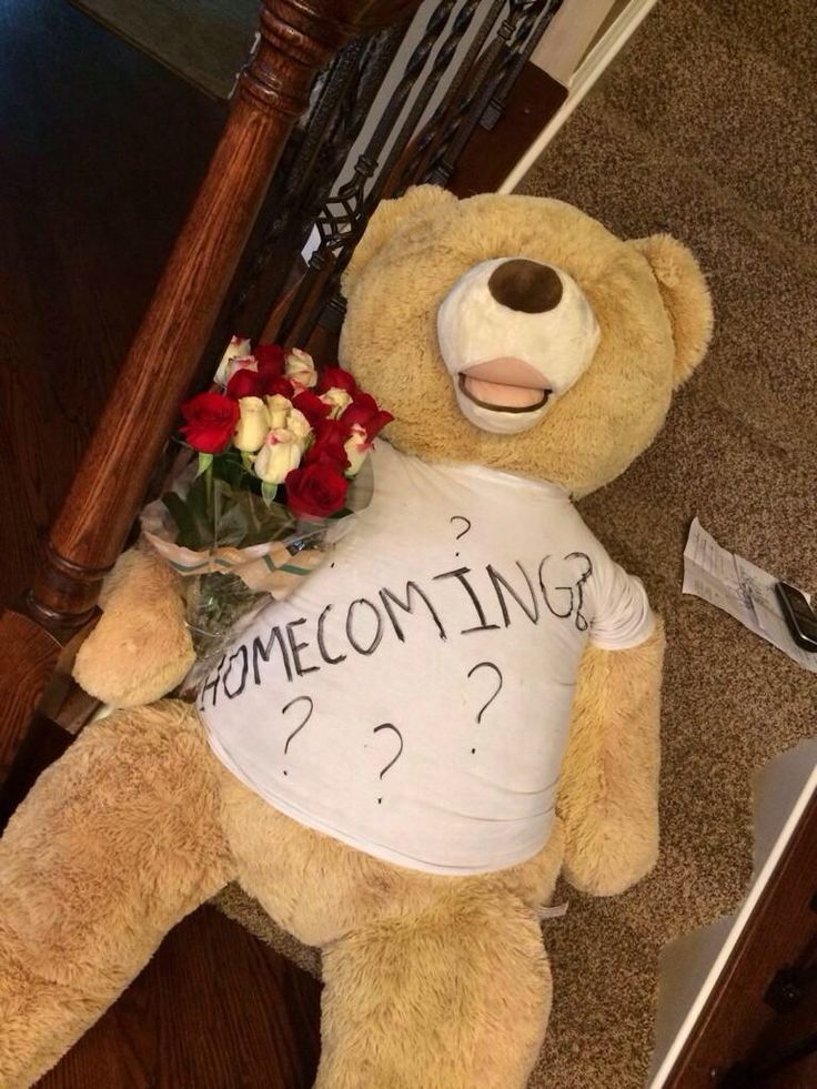 Perfect for homecoming life size teddy bear but do a cute poster bored not a stupid shirt- C