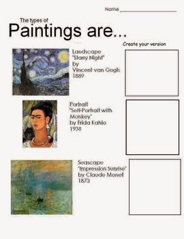 "No Corner Suns: Free ""Types of Paintings"" handout/worksheet downlo..."