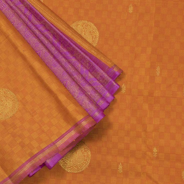 Kanakavalli Handwoven Kanjivaram Silk Sari 1004455 - Sari / Kanjivarams - Parisera