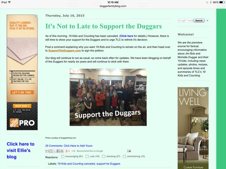 Please go to the Duggar blog they have lots of Duggar updates and links to petitions to keep this great show on air!!!